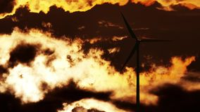 Wind Turbine at sunrise Stock Photography