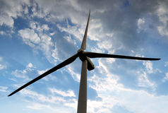 Wind turbine. In the sunset Stock Images