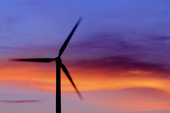 Wind Turbine at Suset Royalty Free Stock Images