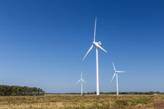 Wind turbine system, accumulate energy. Stock Photography
