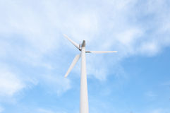Wind turbine on the top of the mountain Royalty Free Stock Photo