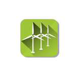 Wind Turbine Tower Energy Recycle Technology Icon Stock Photography