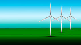 Wind Turbine. Tower In Field Royalty Free Stock Image