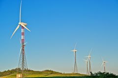 Free Wind Turbine Towers Stock Images - 24730704