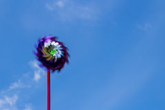 Wind turbine toy Royalty Free Stock Photography
