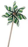 Wind turbine toy or pinwheel isolated Stock Images