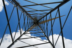 Wind turbine trellis Royalty Free Stock Images