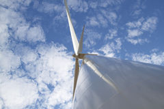 Wind turbine. Wind tubine with 100 meters until the top Royalty Free Stock Images