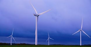 Wind Turbine. S on Norfolk agricultural land Royalty Free Stock Images