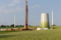 Wind turbine under construction Stock Image