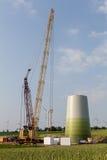 Wind turbine under construction Royalty Free Stock Photos