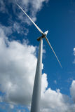 Wind turbine, upright. Stock Photos