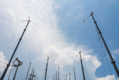 Wind Turbine. For use on an island in Thailand Stock Image
