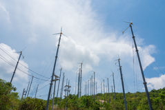 Wind Turbine. For use on an island in Thailand Royalty Free Stock Photo