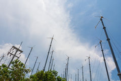 Wind Turbine. For use on an island in Thailand Royalty Free Stock Photography