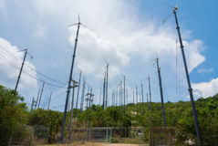 Wind Turbine. For use on an island in Thailand Stock Photos