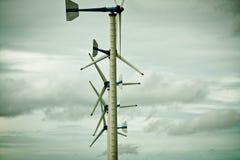 Wind turbine. The wind turbine use produce electrical power Stock Photo
