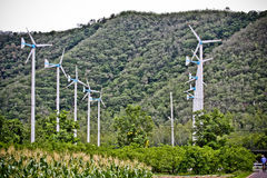 Wind turbine. The wind turbine use produce electrical power and clean energy Royalty Free Stock Photography