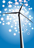Wind turbine (vector) Stock Images