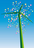 Wind turbine (vector) Royalty Free Stock Photo