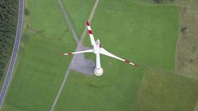 Wind turbine. View from above stock footage
