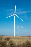 Wind turbine in western oklahoma Royalty Free Stock Photos