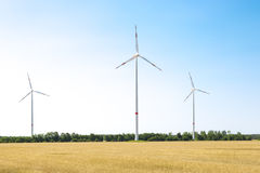 Wind turbine wheat field Stock Photography