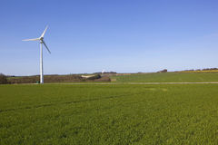 Wind turbine and wheat Royalty Free Stock Photography