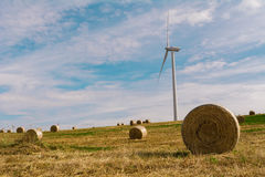 A Wind Turbine on a Wind Farm.  Stock Image