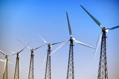 Wind turbine on a Wind Farm Stock Photography