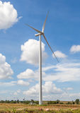 A wind turbine on the wind farm for producing renewable energy i Stock Photo