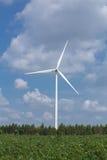 Wind Turbine in wind farm with sky Stock Photos