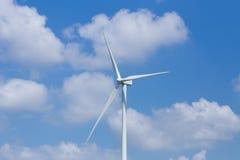 Wind Turbine in wind farm with sky Stock Photography