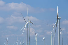 Wind Turbine in wind farm with sky Royalty Free Stock Photography
