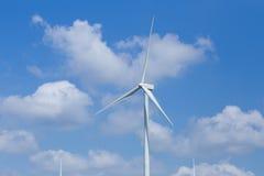 Wind Turbine in wind farm with sky Stock Image