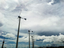 Wind turbine, wind generator, wind power unit to change wind ene Royalty Free Stock Photography