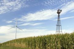 Wind Turbine and Wind Mill Stock Images