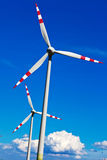Wind turbine of a wind power plant for electricity Stock Photography
