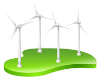 Wind Turbine, Wind Power, Renewable Energy. Vector Illustration of Wind Turbines. Best for Alternative Energy, Technology, Conservation, Recycling, Green Energy Royalty Free Illustration