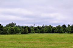 Wind Turbine. S in Chateaugay, New York in a rural community Royalty Free Stock Photography