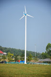 Wind turbine or windmill plant in Phetchaburi Thailand Royalty Free Stock Images