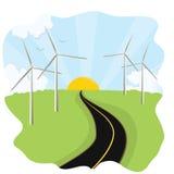 Wind-Turbinen Stockbild