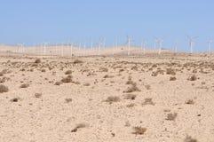 Wind-Turbinen für erneuerbare Energie Stockfotos
