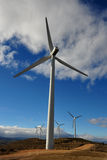 Wind turbines. Generating clean electricity Stock Image