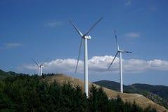 Wind turbines. Farm in Italian Alps Royalty Free Stock Photography