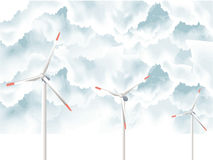 Wind Turbines vector illustration