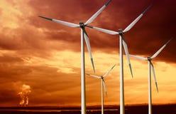 Wind turbines Stock Image