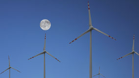 Wind turbines. Wind farm to produce clean energy royalty free stock photo