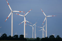Wind turbines Royalty Free Stock Photo