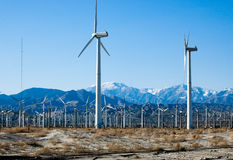 Wind Turbines. This is an image of Wind Turbines in Palm Springs, California Stock Photos